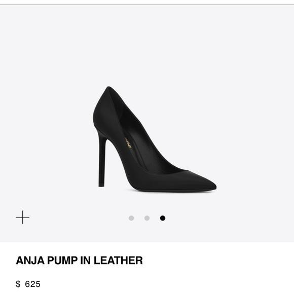 19d66090 YSL Saint Laurent Anja Pointed Black Heels 39 8.5